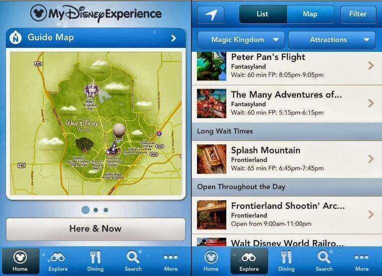 Aplicativo para os parques da Disney Orlando