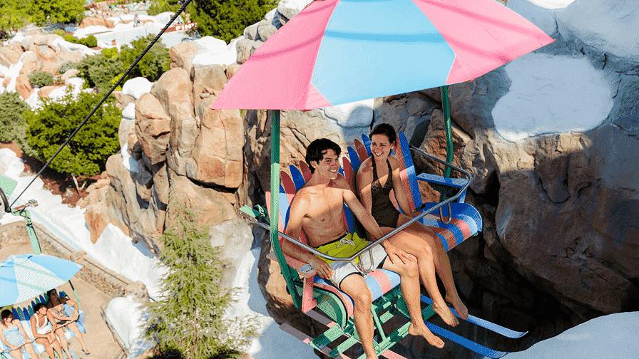 Teleférico no Disney's Blizzard Beach