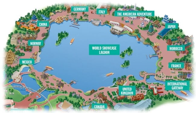 Parque Disney Epcot Orlando: Países