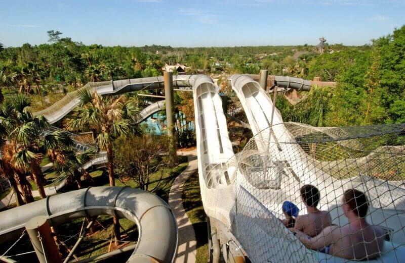 Tobogã do Parque Disney Typhoon Lagoon
