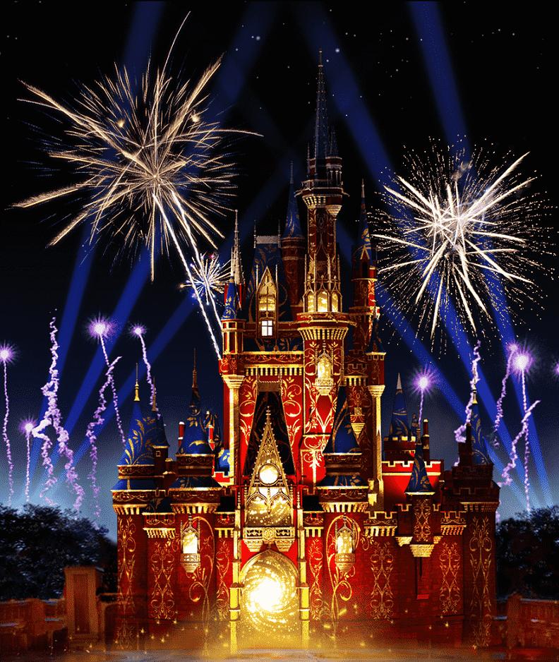 Show de fogos no Magic Kingdom na Disney Orlando