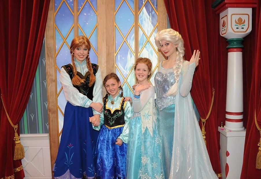 Encontros com as princesas da Disney