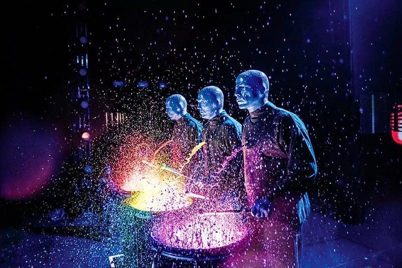 Show do Blue Man Group em Orlando na Universal