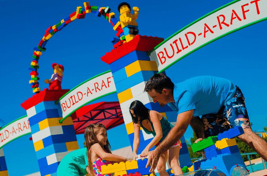Build-A-Raft River no parque aquático Legoland em Orlando: