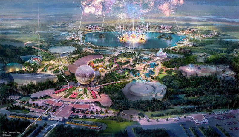 Projeção do novo Epcot da Disney Orlando