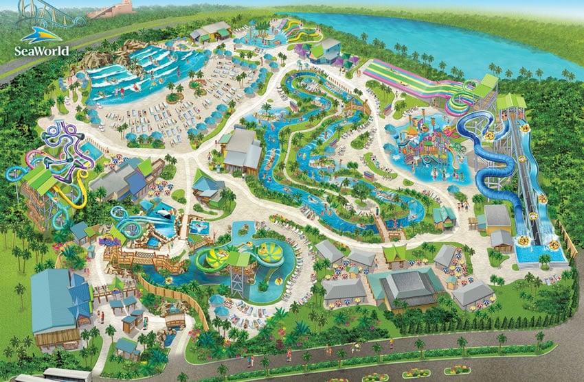 Onde fica o parque Aquatica em Orlando