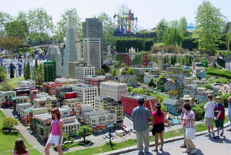 Miniland USA no parque da Lego