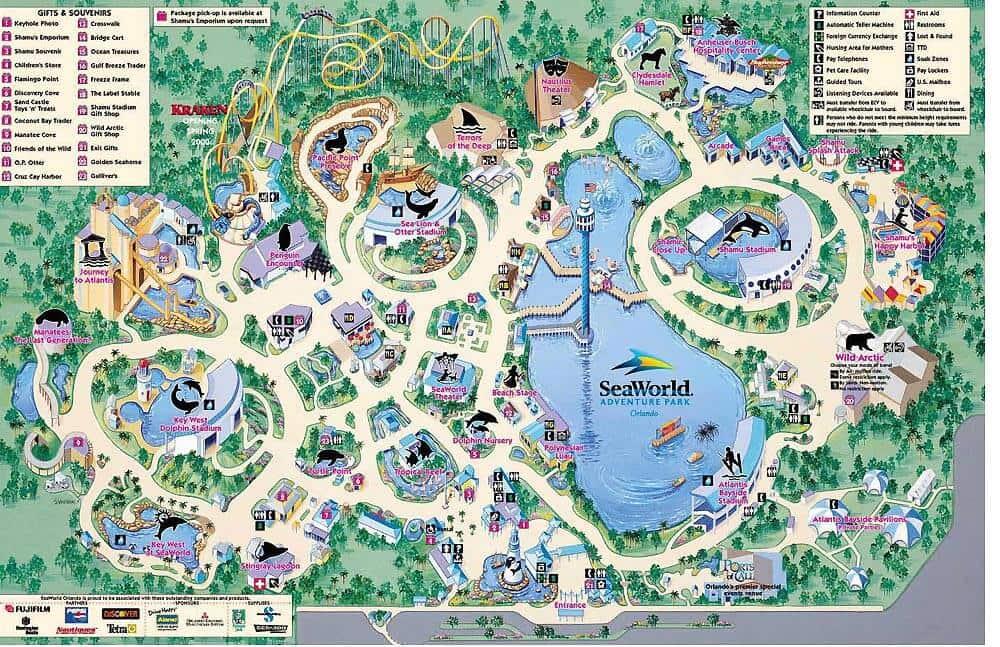 Mapa do SeaWorld
