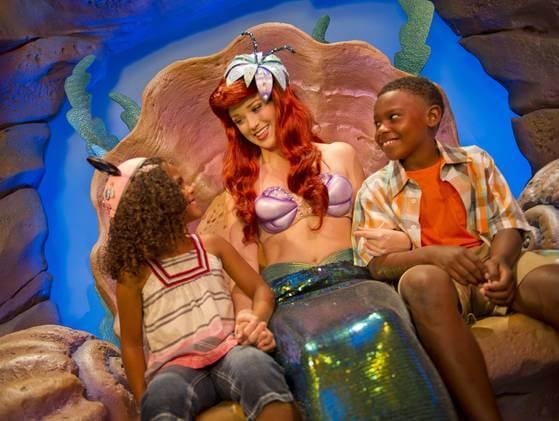 Atrações da Pequena Sereia no parque Magic Kingdom