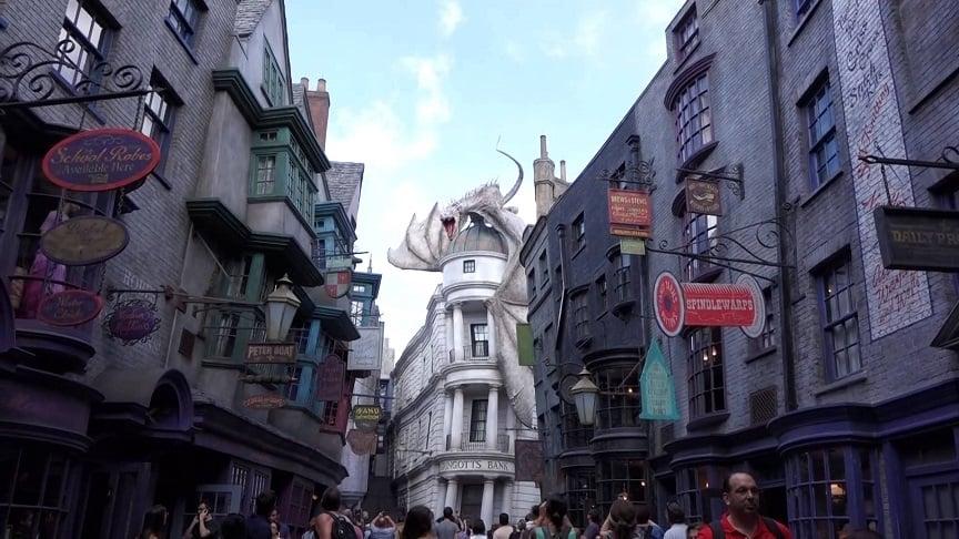 Vista do Beco Diagonal do Harry Potter no Universal Studios