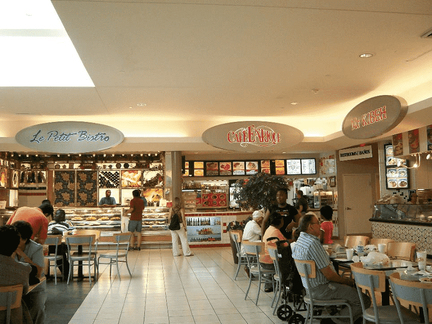 Restaurantes no Shopping Dadeland Mall em Miami