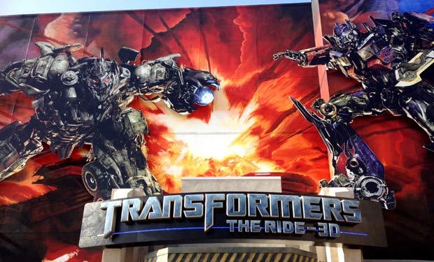 Simulador do Transformers no Universal Studios