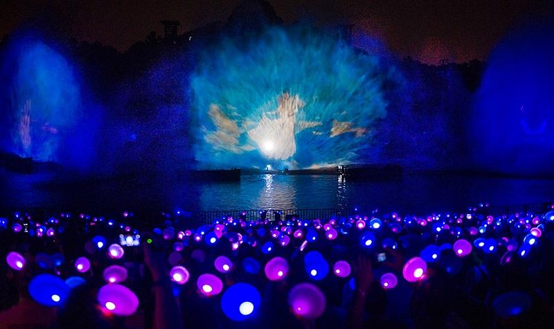 Show de luzes Fantasmic da Disney no Hollywood Studios
