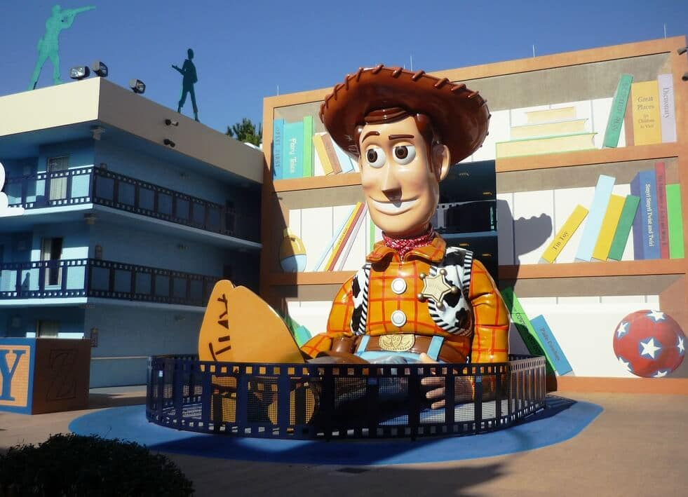 Estrutura do hotel Disney's All-Star Movies Resort