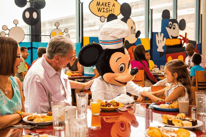 Dicas sobre as refeições com personagens na Disney