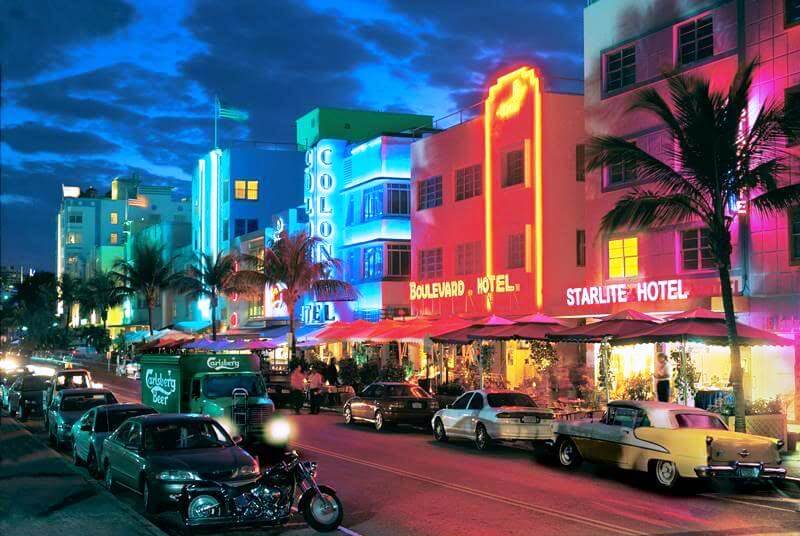 Regiões de South Beach: Ocean Drive