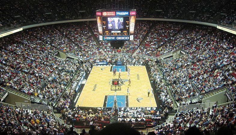 Detalhes da Arena Amway Center e dos jogos da NBA