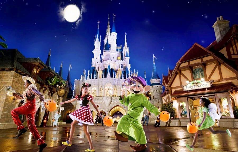 Halloween no Magic Kingdom em Orlando