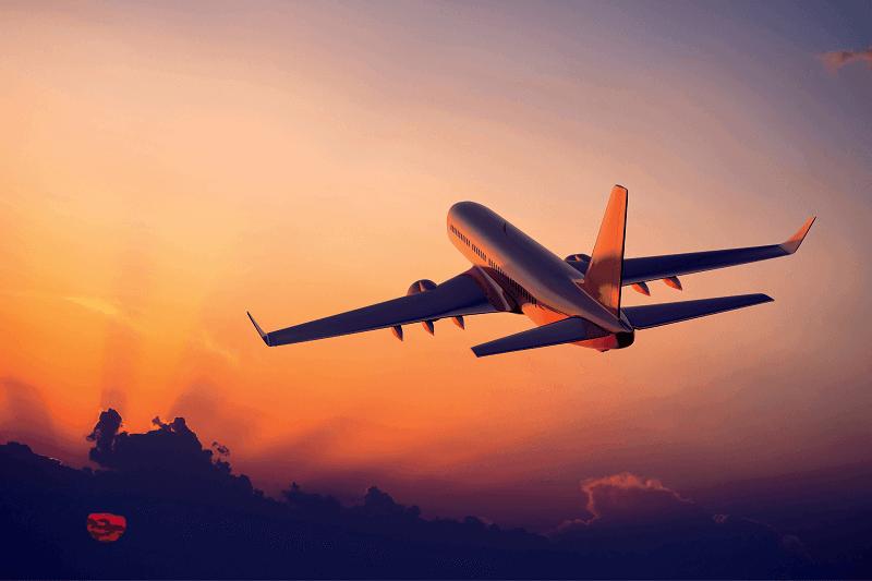 Viagem de avião para Orlando