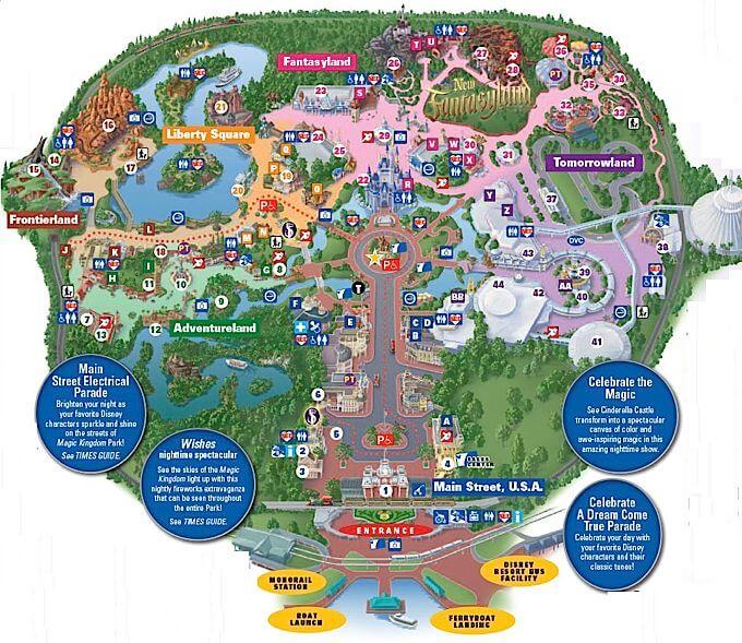 Roteiro pro Parque Magic Kingdom Disney em Orlando: Mapa