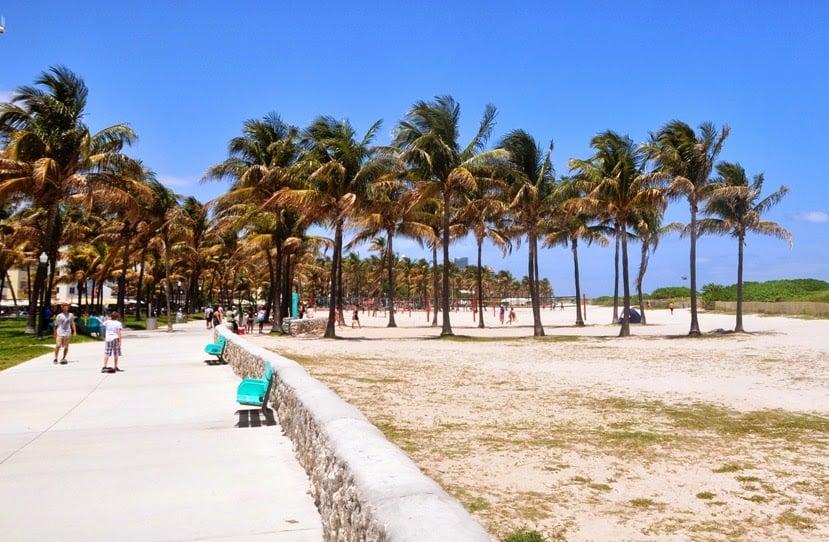 Lummus Park em Miami: Praia e parque em Miami Beach