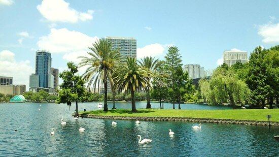Lake Eola Park em Orlando