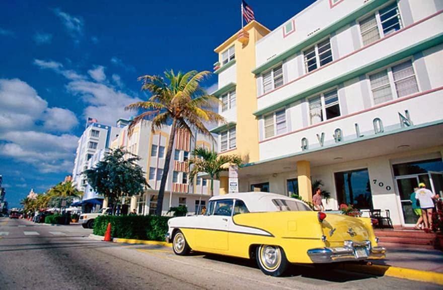 Rua em Miami