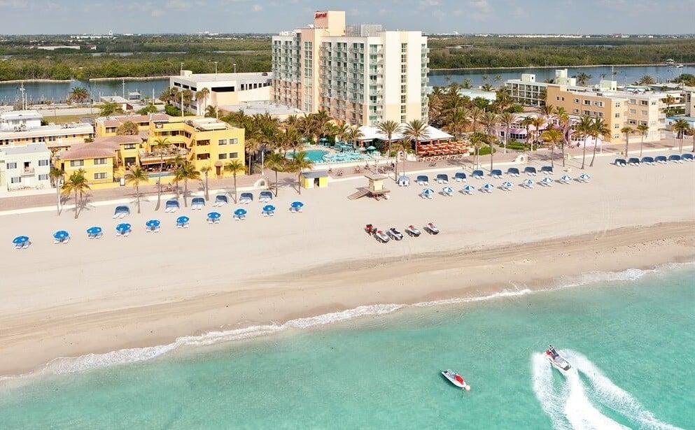 Praia Hollywood Beach Miami