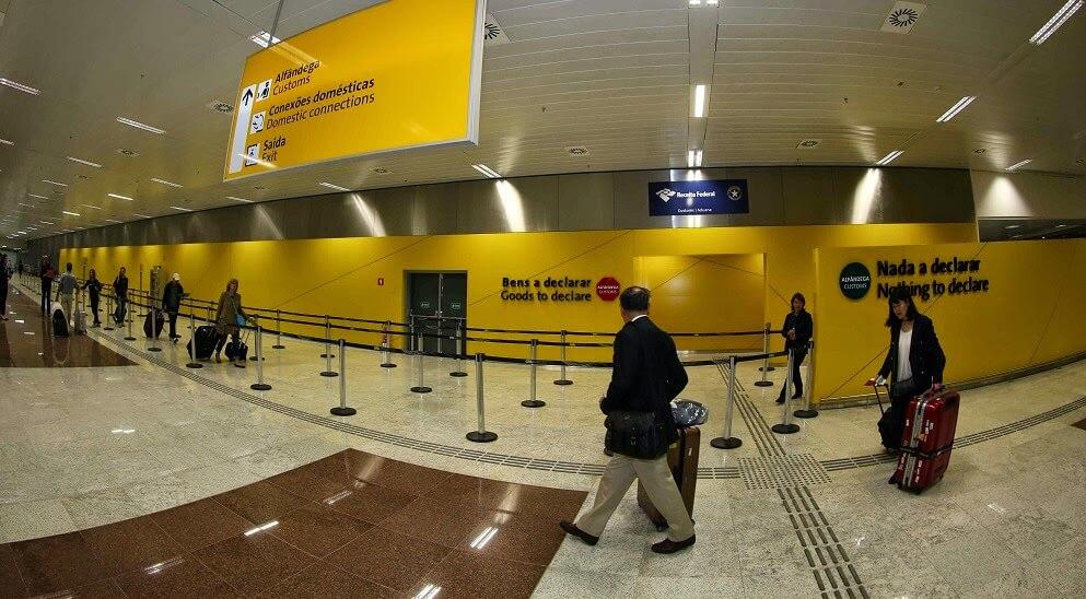 Desembarque no Aeroporto de Guarulhos