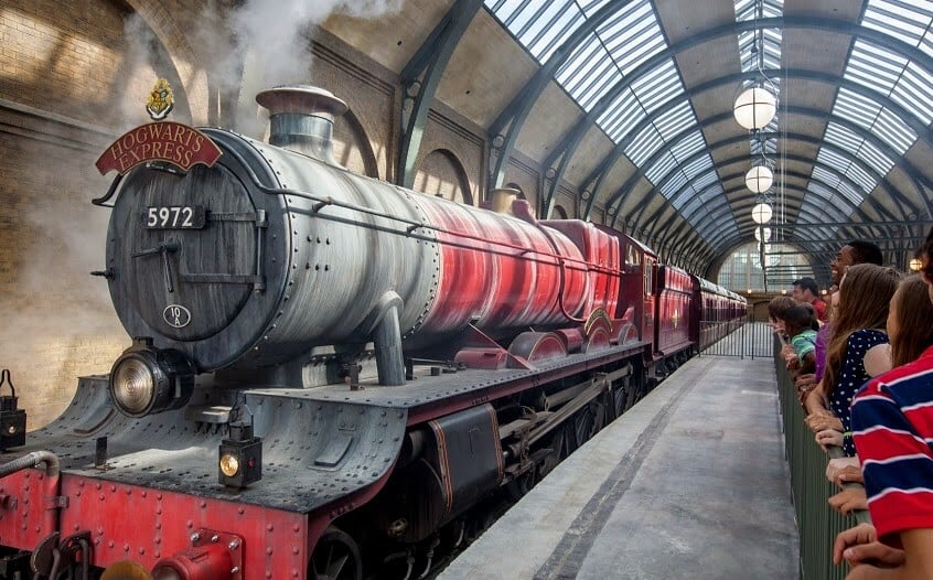 Trem Hogwarts Express do Harry Potter em Orlando