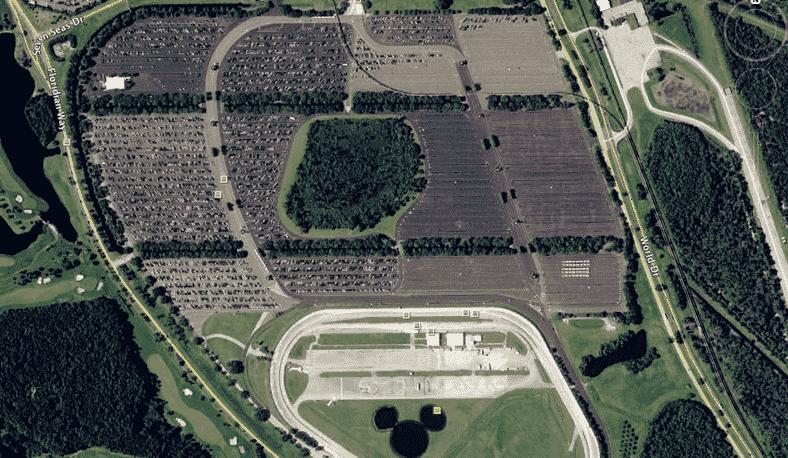 Estacionamentos dos parques em Orlando
