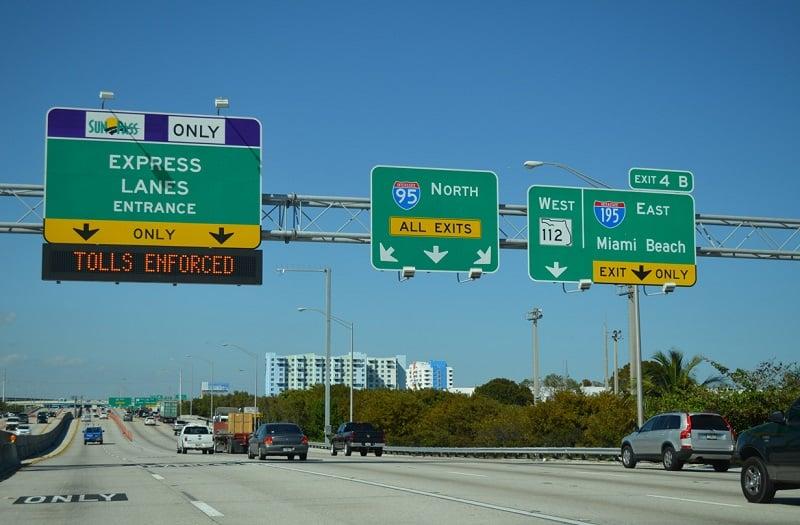 Vias expressas na Flórida