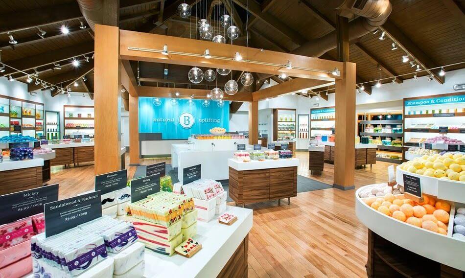 Lojas Basin na Disney em Orlando - Interior e produtos