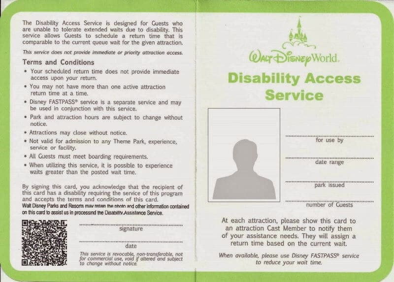Utilizando o Disability Access Service Card na Disney