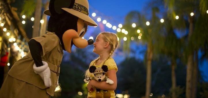 Fotos com personagens em Orlando