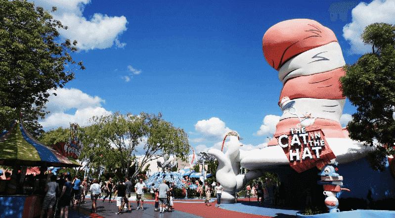 Seuss Landing no parque Islands of Adventure Orlando