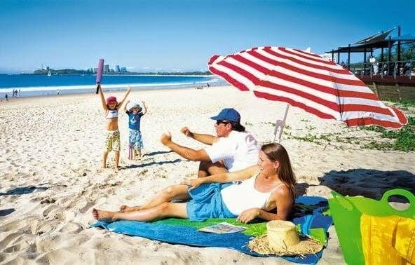 Miami com crianças e filhos na praia