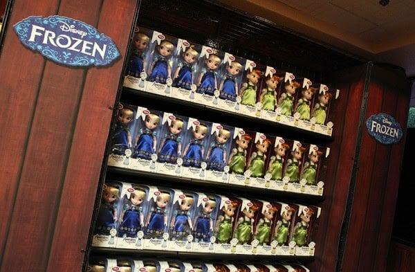 Bonecas da loja do Frozen na Disney em Orlando