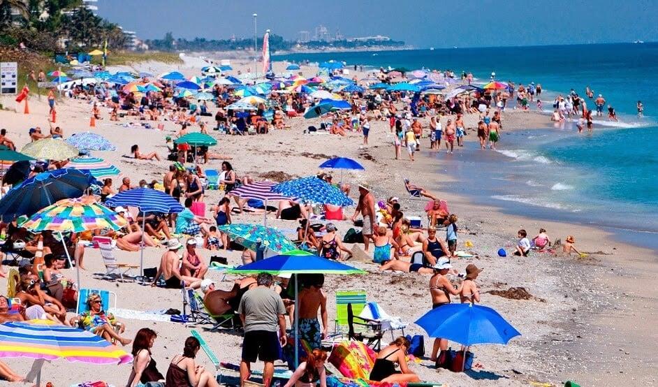 meses e épocas de verão em Miami