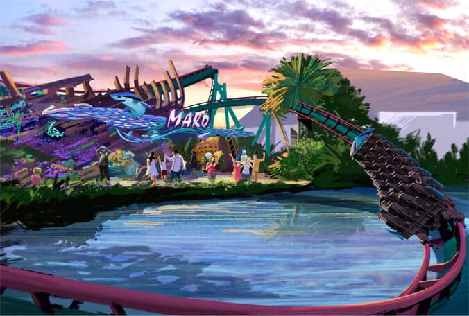 Atração Mako no Parque SeaWorld Orlando