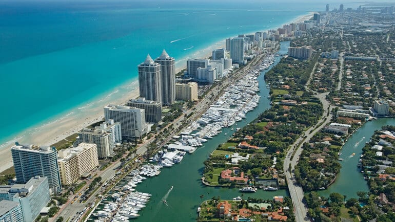 Visão aérea de Miami