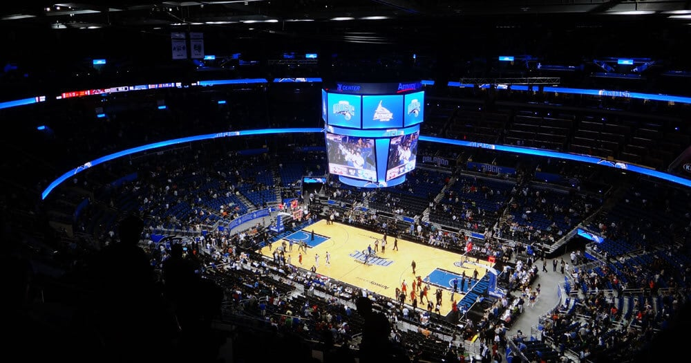 Jogo de basquete em Orlando