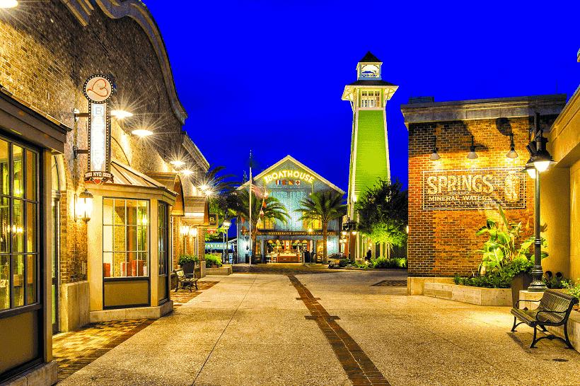Disney Springs em Orlando vazia