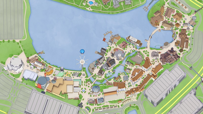 Mapa de Disney Springs em Orlando