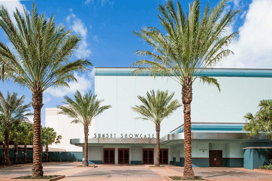 Vista do Sunset Showcase no Hollywood Studios em Orlando