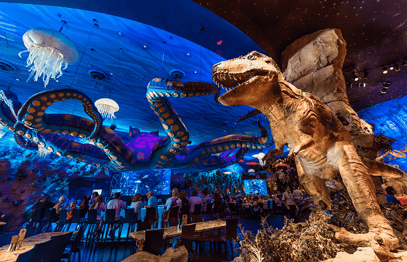 Restaurante T-Rex no Disney Springs