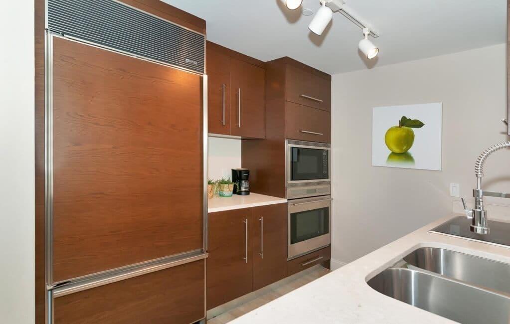 Cozinha nos apartamentos em Miami