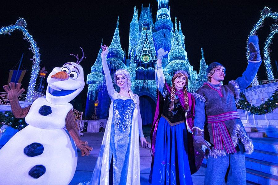 Frozen no Magic Kingdom na Disney