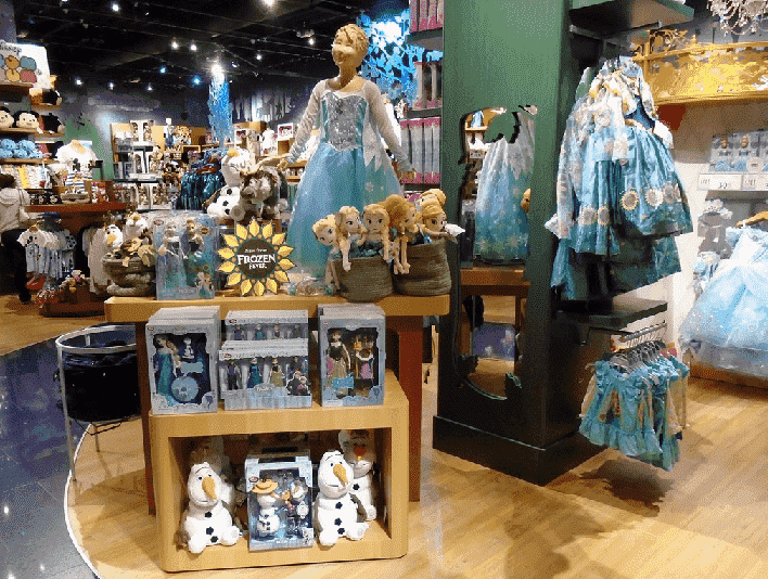 Produtos Frozen nos parques Disney em Orlando