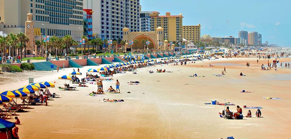 Praia de Daytona Beach na Flórida